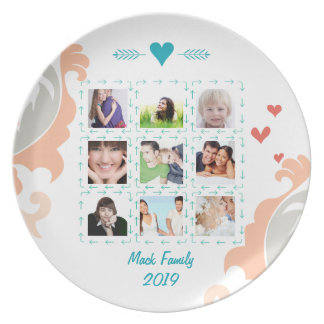 Personalized Family Photo Collage Plate