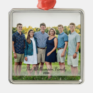 Personalized Family Photo Name Year Christmas Christmas Ornament