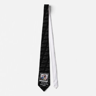 Personalized Family Photo Snapshot and Names Tie
