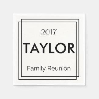 Personalized Family Reunion Napkins Paper Serviettes