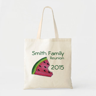 Personalized Family Reunion Watermelon Slice Tote Budget Tote Bag