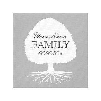 Personalized family tree canvas art illustration stretched canvas prints
