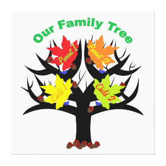 Personalized Family Tree (Family of 4) Canvas Canvas Print