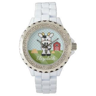 Personalized Farm Cow Wrist Watch