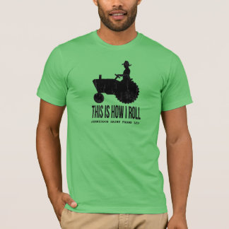 Personalized Farm Tractor This is How I ROLL T-Shirt