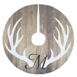 Personalized - Farmhouse Light Wood Deer Antlers Brushed Polyester Tree Skirt