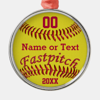 Personalized Fastpitch Softball Gifts for Girls Christmas Ornament