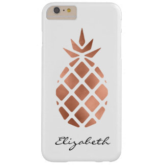 Personalized faux rose gold foil pineapple barely there iPhone 6 plus case