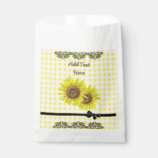 Personalized Favor Bags Sunflower Themed Party