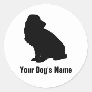 Personalized Field Spaniel フィールド・スパニエル Round Sticker