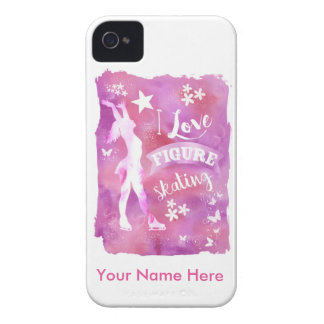 Personalized Figure Skater Phone Case iPhone 4 Case-Mate Cases