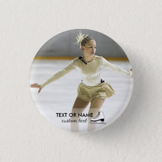 Personalized Figure Skating Custom Photo and Name 3 Cm Round Badge