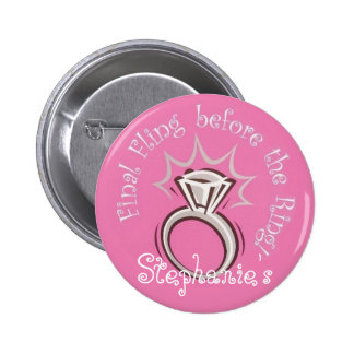 Personalized Final Fling Button
