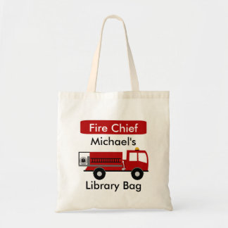 Personalized Fire Engine Budget Tote Bag