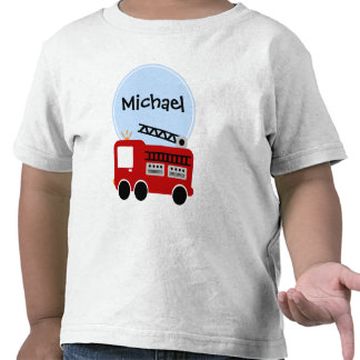 Personalized Fire Truck Boy Tshirts