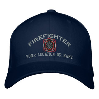Personalized Firefighter Custom Cap Embroidery Embroidered Baseball Cap