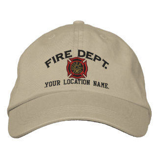 Personalized Firefighter Custom Cap Embroidery Embroidered Cap