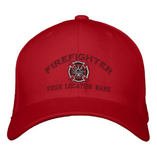 Personalized Firefighter Custom Cap Embroidery Embroidered Hats