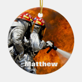 Personalized Fireman Ornament