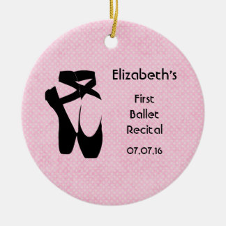 Personalized First Ballet Recital Keepsake Christmas Ornament