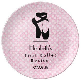 Personalized First Ballet Recital Keepsake Porcelain Plates