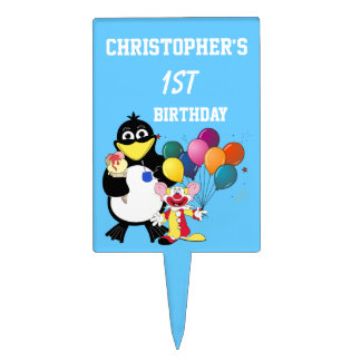 Personalized first  birthday cake toppers