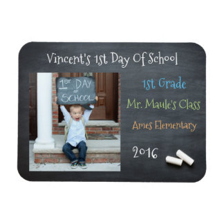 Personalized First Day Of School Magnet