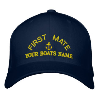 Personalized first mate  yacht crew embroidered cap