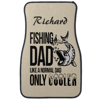 Personalized Fishing Dad Like Normal Dad Cooler Car Mat