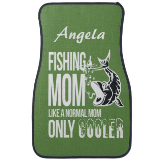 Personalized Fishing Mom Like Normal Mom Cooler Car Mat