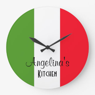 Personalized Flag Of Italy Round Wall Clock