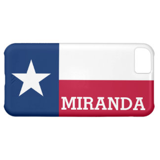 Personalized Flag of Texas iPhone 5C Covers