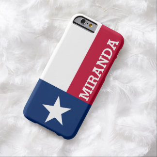 Personalized Flag of Texas iPhone 6 Case