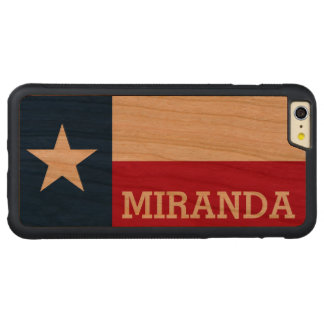 Personalized Flag of Texas iPhone 6 Plus Case