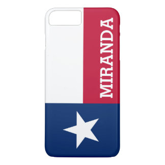 Personalized Flag of Texas iPhone 7 Plus Case