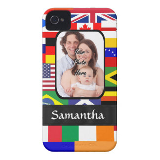 Personalized flags of the world Case-Mate iPhone 4 case