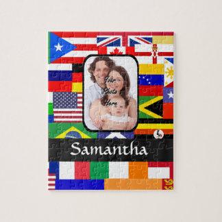 Personalized flags of the world jigsaw puzzle