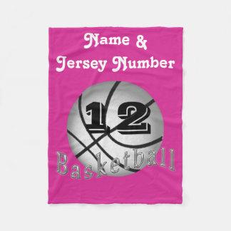 Personalized Fleece Basketball Blanket for Girls