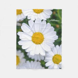 Personalized Fleece Blankets Spring Flowers