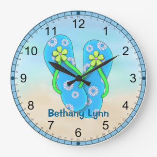 Personalized Flip flop Wall Clock