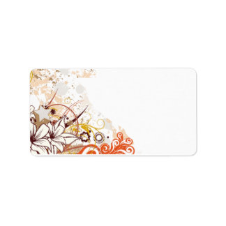 Personalized Floral Address Label