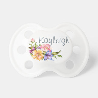 Personalized Floral Beauty Pacifiers