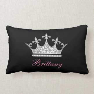 Personalized Floral Crown Accent Pillow