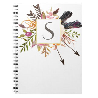 Personalized floral framed notebook