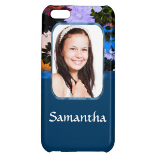 Personalized floral photo template iPhone 5C cover