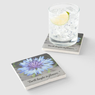 Personalized Floral Stone Coaster