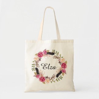 Personalized Floral Tote Bag Bridesmaid welcome
