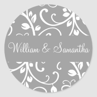 Personalized Floral Vine Envelope Sticker Seal