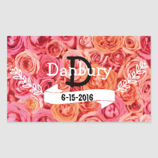 Personalized FloralWedding  Envelope Seal Stickers