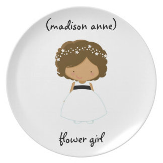 Personalized Flower Girl Plate/Gift Party Plate